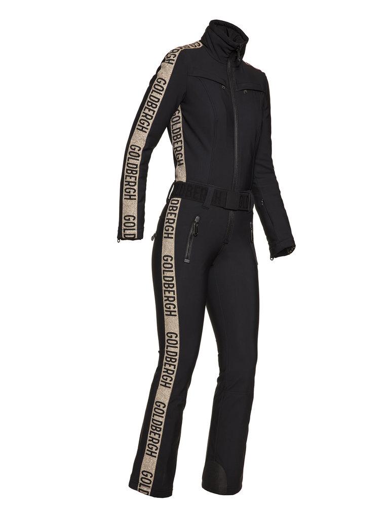Costum de ski Goldbergh Damă Goldfinger Negru-Auriu GB1698204-710