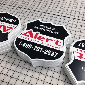 custom cut pvc plastic signs