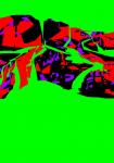 17 - Chuttes - oeuvre informatique 2008 70x50 cm 5 exemplaires + EA 1920 72 dpi