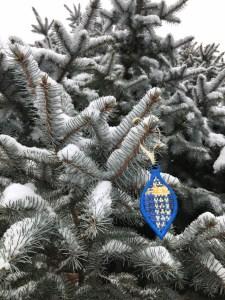 Blue Woven Ornament