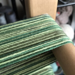 Green Warp on Warping Board