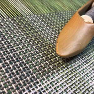 Handwoven Green Fabric - Color Change