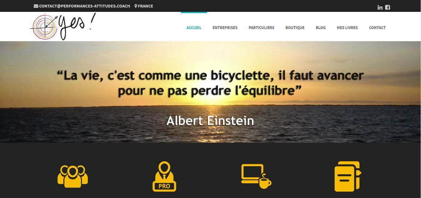 Performances Attitudes gérance ACTOPIX site internet