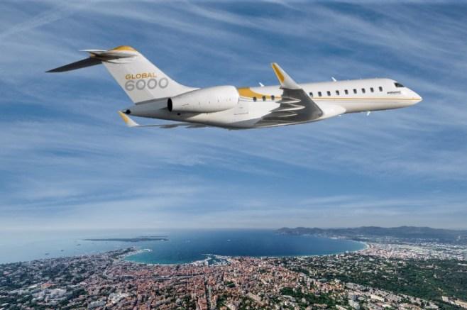 Avion Global 6000 de Bombardier