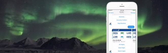 Icelandair via messenger Facebook