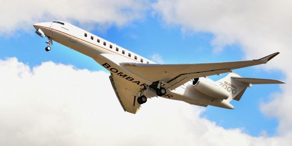 quatrième véhicule d'essais en vol du Global 7000