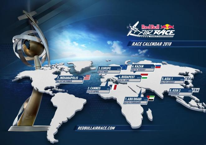 Calendrier 2018 Red Bull Air Race