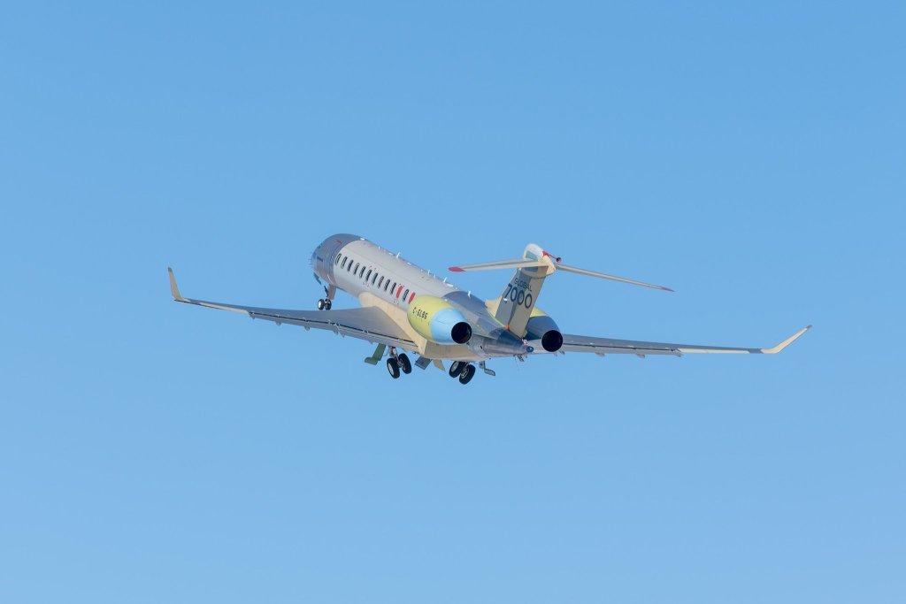 5e véhicule d'essais en vol du Global 7000