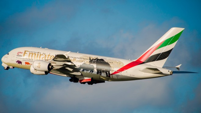 """Airbus A380-861 Emirates """"United For Wildlife 2"""" A6-EDG"""