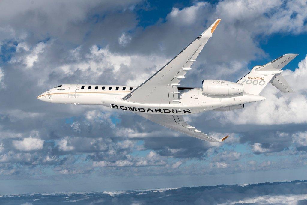 Le futur avion d'affaires Bombardier Global 7000