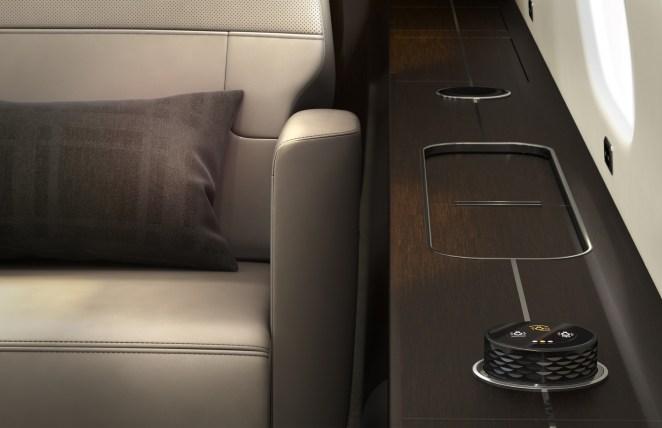 système de gestion cabine « nice Touch » conçu par Bombardier et Lufthansa Technik