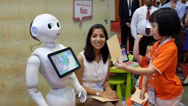 robot singapour ecole actu digital