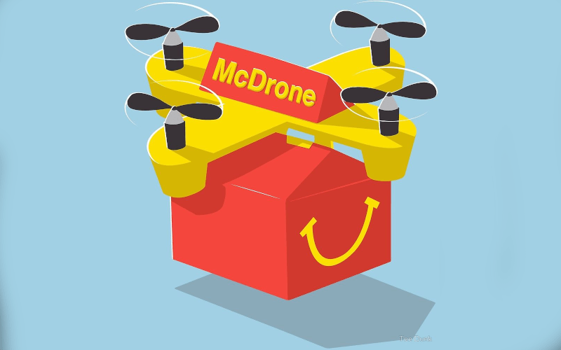 drone livraison nourriture