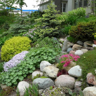 Inexpensive retaining wall ideas, cheap landscaping ideas ... on Small Sloped Backyard Ideas On A Budget  id=44140