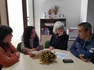 El Alcalde, la Concejala de Servicios Sociales, la coordinadora de servicios sociales y la educadora social de Segorbe