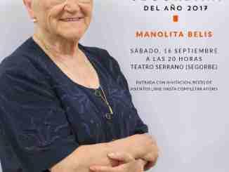 Cartel del homenaje de la Segorbina del Año a Manolita Belis