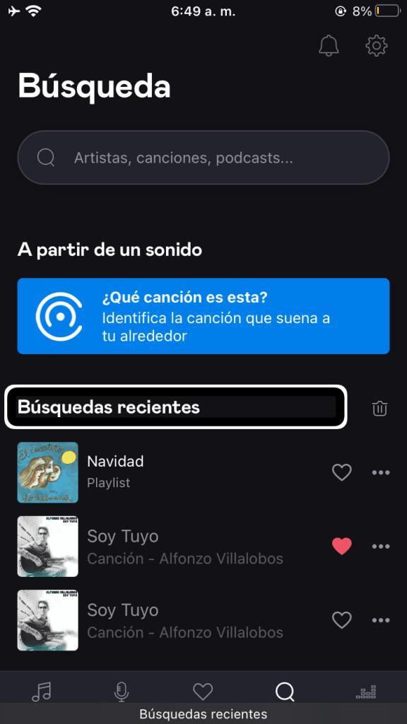 Captura de pantalla 4 en Deezer: servicio de música accesible