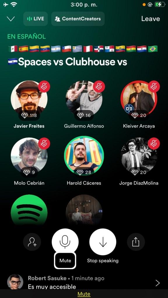 Spotify Greenroom: se sube al carro del social audio