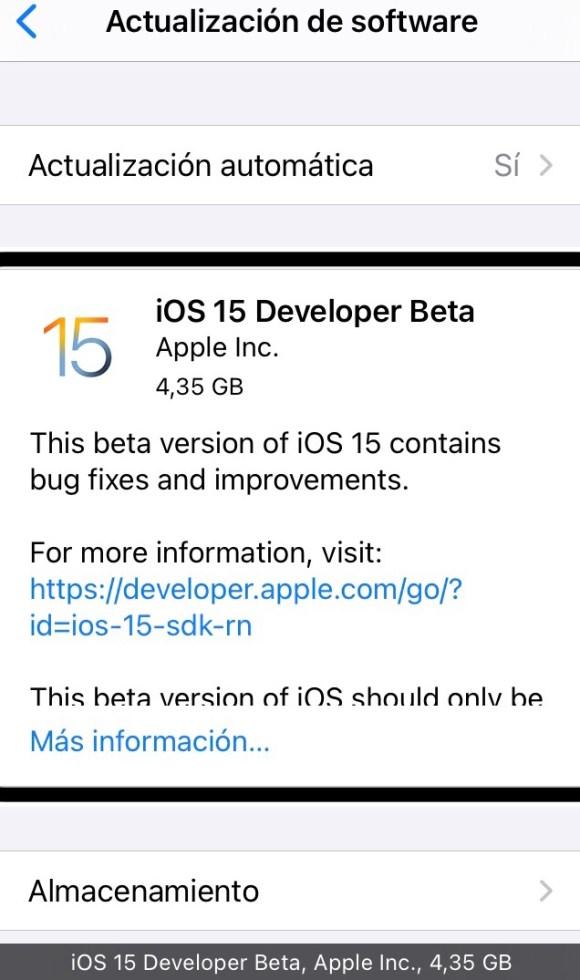 Quieres probar iOS 15: instala la beta para desarrolladores. Imagen 2