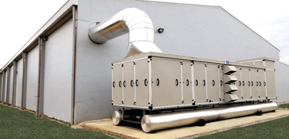 Ventilación, ambientes de la planta incubadora