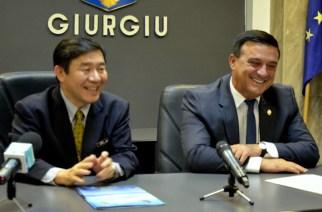 Senatorul Niculae Bădălău l-a adus la Giurgiu pe Ambasadorul Japoniei în România