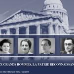 """""""Entrée de quatre figures de la Résistance au Panthéon"""" Exposition virtuelle"""