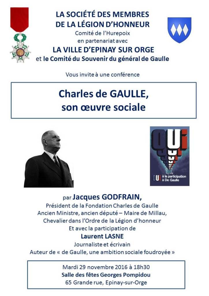 SMLH conference Charles de Gaulle 29 nov 2016