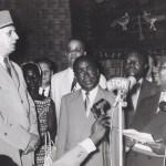 Félix Houphouët-Boigny, signataire de la Constitution de 1958