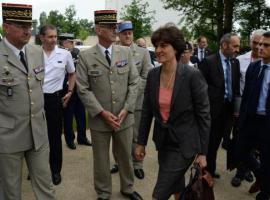 Sylvie Goulard à la DGA de Bruz le 30 mai 2017 Droits réservés Ouest-France