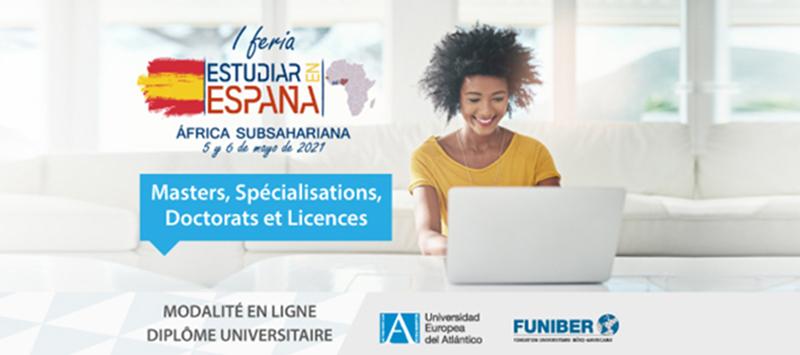 FUNIBER et UNEATLANTICO participent à la foire virtuelle destinée aux étudiants d'Afrique subsaharienne