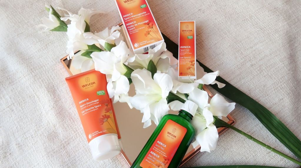 weleda, arnica, bathmilk, shower gel, sport gel