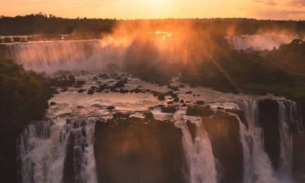 Coucher de soleil sur l'une des sept merveilles du monde