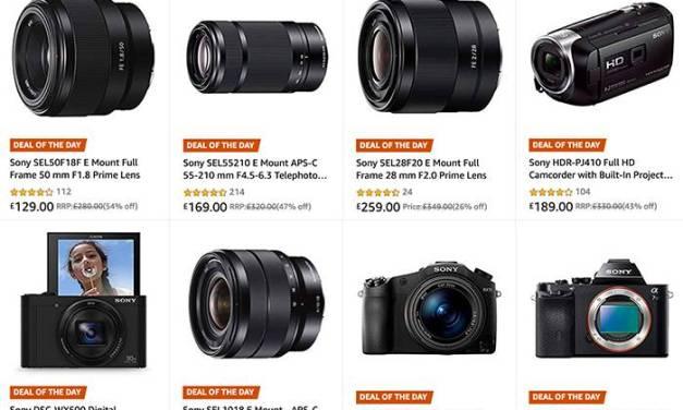 Aujourd'hui uniquement sur Amazon UK: jusqu'à 40% de réduction sur les appareils photo, objectifs et caméscopes Sony