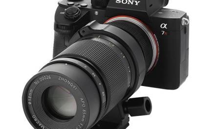 Nouvel objectif annoncé par ZHONG YI: APO 85mm F2.8 SUPER MACRO 1-5X FE