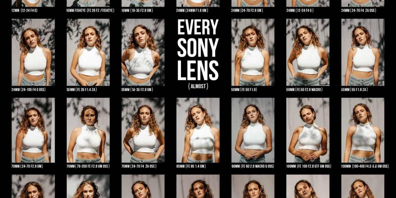 Photographier un modèle avec tous les objectifs SONY en vidéo