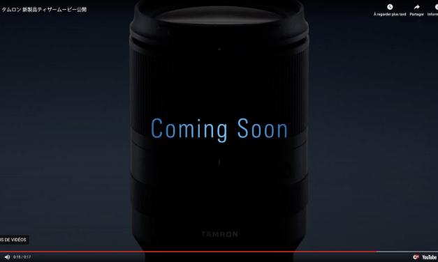 Tamron buzz sur le lancement d'un nouvel objectif zoom