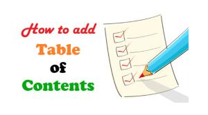 WordPress पर Table of Contents कैसे लगाए?