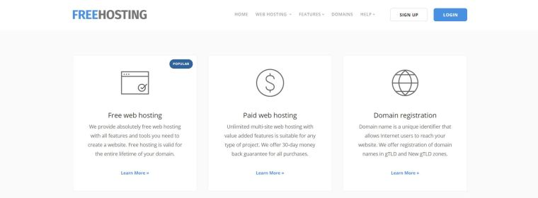 FreeHosting - free web hosting sites in India
