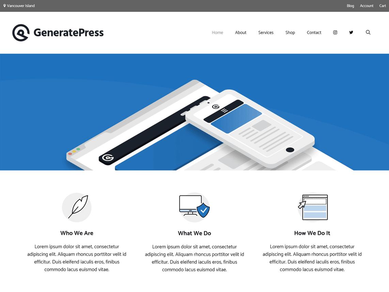 GeneratePress WordPress Theme - WordPress ke liye Best Free Theme
