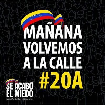 Maduro sucumbe ante la gallardía y la determinación de un pueblo
