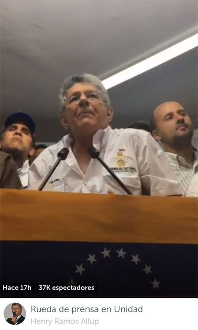 Maduro, tu cara no me suena ni en Periscope