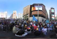 Protesta venezolana en Plaza Callao de Madrid en 360 grados