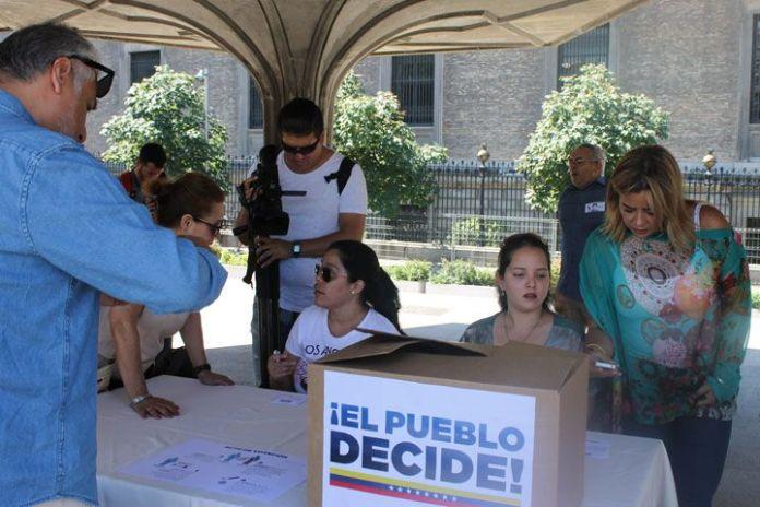 Ensayo de la Consulta Popular en Madrid