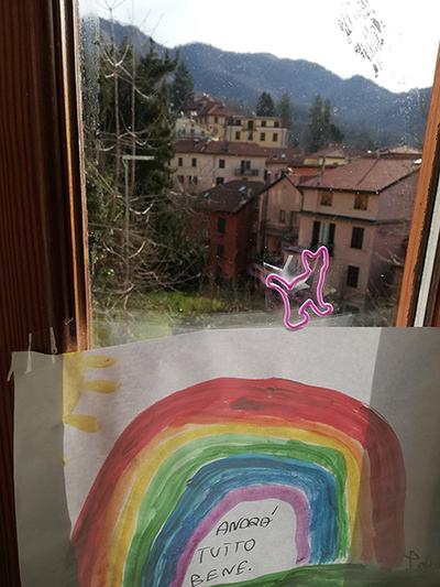 El arcoiris manda a decir