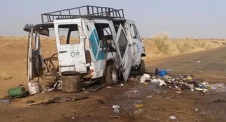 MALI : 5 civils tués et 18 blessés dans l'explosion d'une mine