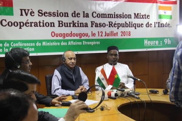 Diplomatie:Le Burkina Faso et l'Inde veulent renforcer leur coopération