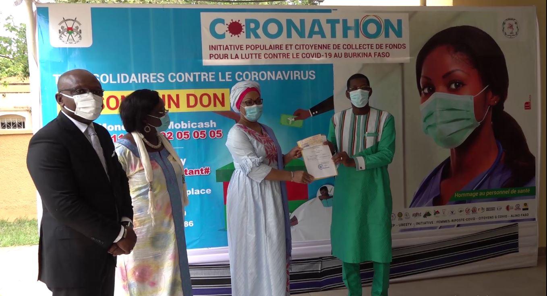 CORONATHON : les membres du gouvernement ont remis leur contribution