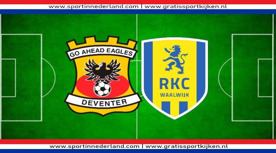 Go Ahead Eagles - RKC kijken via een livestream