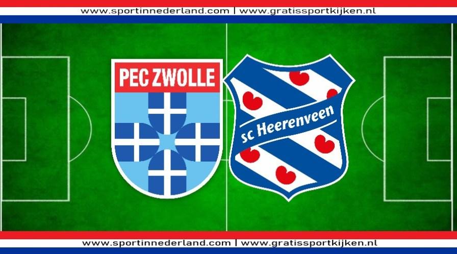 PEC Zwolle - SC Heerenveen kijken via een livestream
