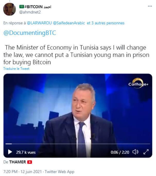 La Tunisie souhaite décriminaliser le Bitcoin